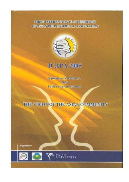 Table Of Contents Icapa 2005 Web Site Fatih Universitesi