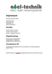Haftungsausschluss - Abel-Technik e.k.