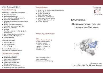 Umgang mit Dynaxität.indd - Kastner Partner Consulting