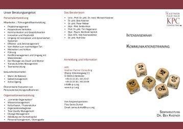 KOMMUNIKATIONSTRAINING - Kastner Partner Consulting