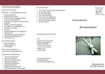 ZEITMANAGEMENT - Kastner Partner Consulting