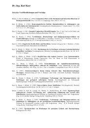 Liste download (pdf) - Dr.-Ing. Karl Kast + Partner (GbR)
