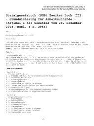 (SGB) Zweites Buch (II) - Grundsicherung für Arbeitsuchende - abekra