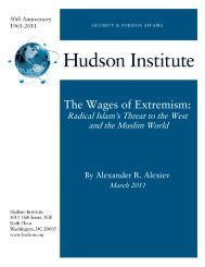 The Wages of Extremism: Radical Islam's Threat ... - Hudson Institute