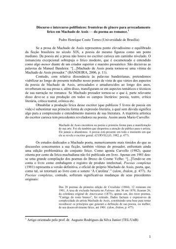 1 Discurso e intercurso polifônicos: fronteiras de gênero para ... - UnB