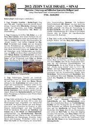 10 Tage ISRAEL mit Eilat