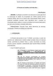 O Protesto de Certidões de Dívida Ativa Fabio Munhoz RESUMO. A ...