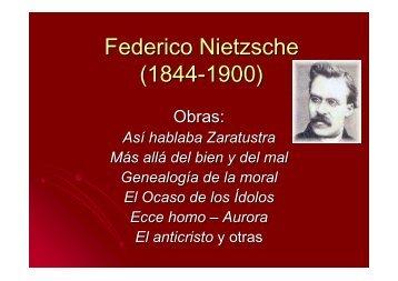 Federico Nietzsche (1844-1900) - Hecho Histórico