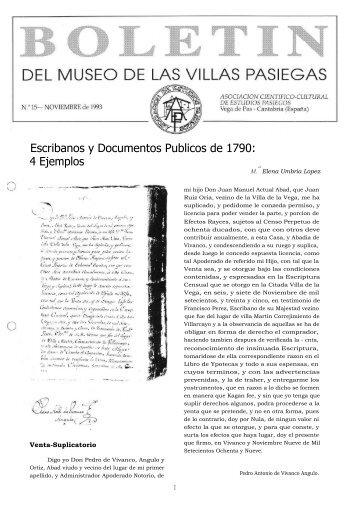 Escribanos y Documentos Publicos de 1790: 4 Ejemplos