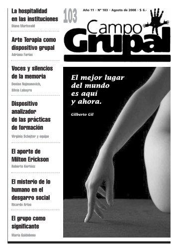 Numero 103 - Escuela de Psicología Social de Montevideo