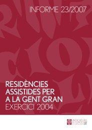Informe 23/2007 - Generalitat de Catalunya