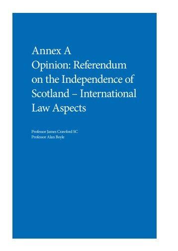 Referendum on the Independence of Scotland ... - Gov.uk