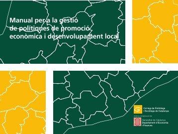 Manual per a la gestió de polítiques de promoció econòmica i ...