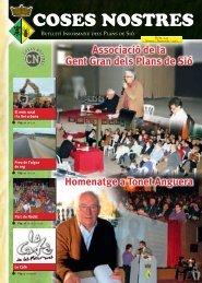 Associació de la Gent Gran dels Plans de Sió Homenatge a Tonet ...