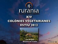XIV COLÒNIES VEGETARIANES ESTIU 2012 - rurania