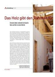 Magazin Das dach - Abeln Gmbh - Zimmerei & Holzrahmenbau