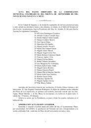 Acta del pleno de 30 de septiembre de 1997 - Ayuntamiento de ...