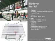 Standortboegen Big Banner Koeln Hbf