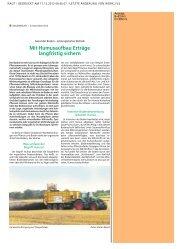Mit Humusaufbau Erträge langfristig sichern - KBA Dithmarschen