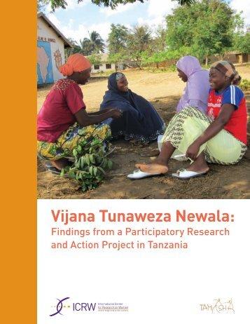 Vijana Tunaweza Newala: Findings from a Participatory ... - ICRW