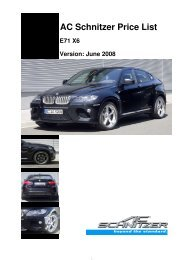 AC Schnitzer Price List E71 X6 Version: June 2008