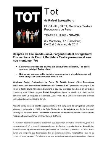 Nota de premsa - Comedia Comunicació & Mèdia