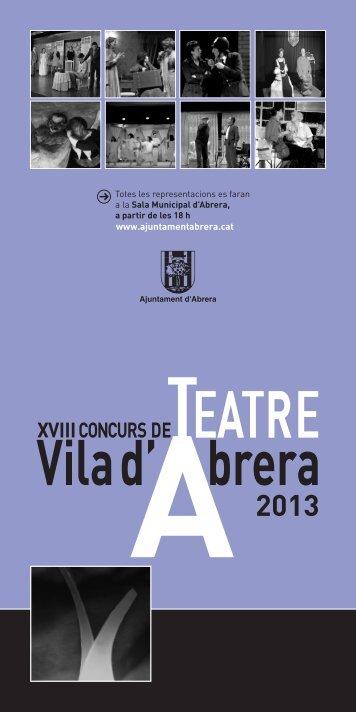 concurs de teatre vila d'abrera - Ajuntament d'Abrera