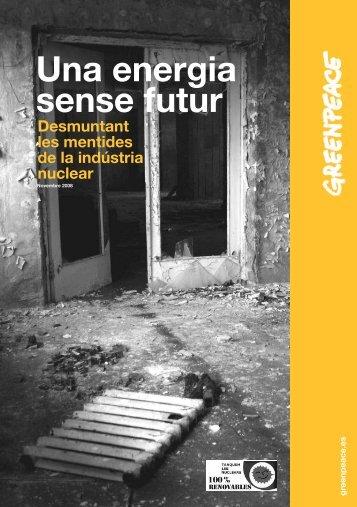 Una energia sense futur - Greenpeace
