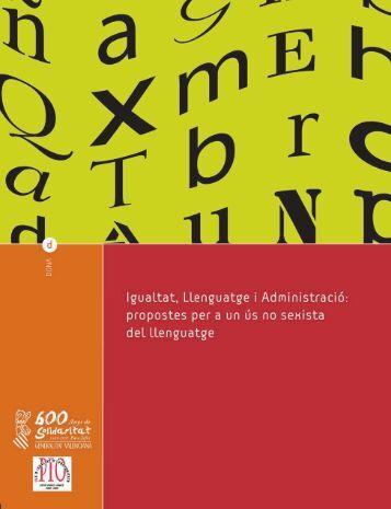 Igualtat, llenguatge i administració - Institut Interuniversitari de ...