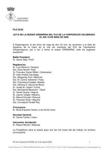 Acta (pdf 2 MB) - Ajuntament d'Esparreguera