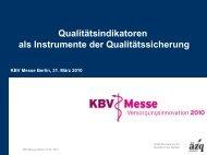 Qualitätsindikatoren als Instrumente der Qualitätssicherung