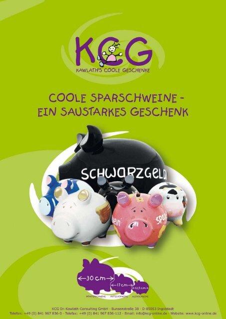 COOLE SPARSCHWEINE ' - bei kcg-online.de