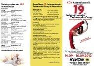 KDK Attendorn eV Internationales Taekwondo-Camp Anmeldung ...