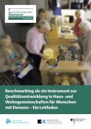 Benchmarking als ein Instrument zur Qualitätsentwicklung in Haus ...