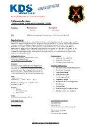 Fachkraft für Schutz und Sicherheit - KDS Unternehmensgruppe