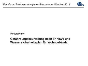 Gefährdungsbeurteilung nach TrinkwV und Wassersicherheitsplan ...