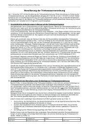 Novellierung der Trinkwasserverordnung