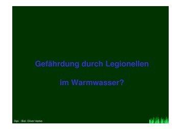 Gefährdung durch Legionellen im Warmwasser?