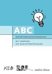 ABC der Weiterbildung - der Katholischen Erwachsenenbildung ...