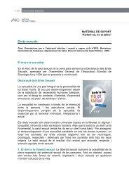 Drets sexuals - Agència de Salut Pública de Barcelona