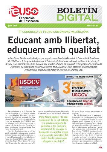 Educant amb llibertat, eduquem amb qualitat - usocv