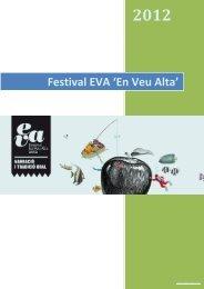 Dossier de premsa - EVA Festival En Veu Alta