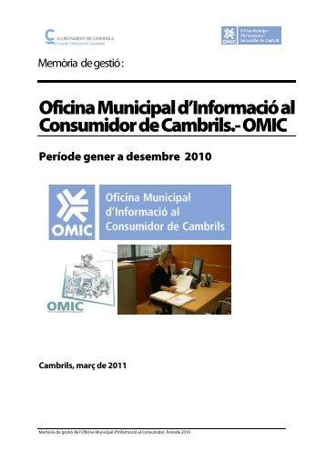 Hojas de reclamaciones omic oficina municipal de for Oficina municipal de informacion al consumidor