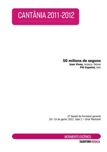50 milions de segons - L'Auditori