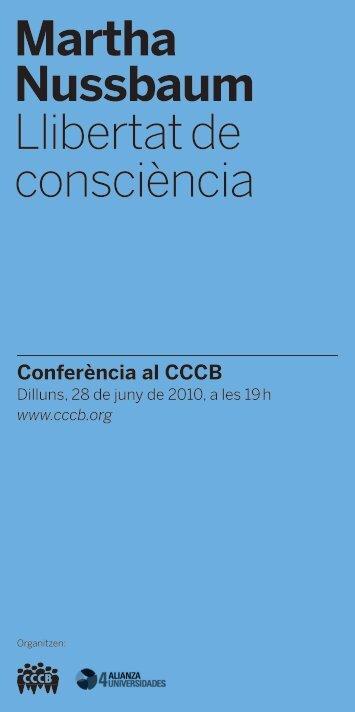 Martha Nussbaum Llibertat de consciència - CCCB