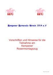 Vorschriften-Hinweise -Rosenmontag 2013.pdf - Kempener ...