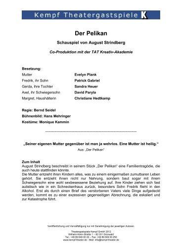 Der Pelikan - Theatergastspiele Kempf GmbH