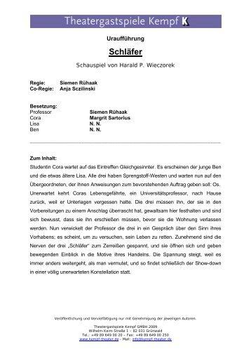 Schläfer - Theatergastspiele Kempf GmbH
