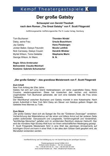 Der große Gatsby - Theatergastspiele Kempf GmbH