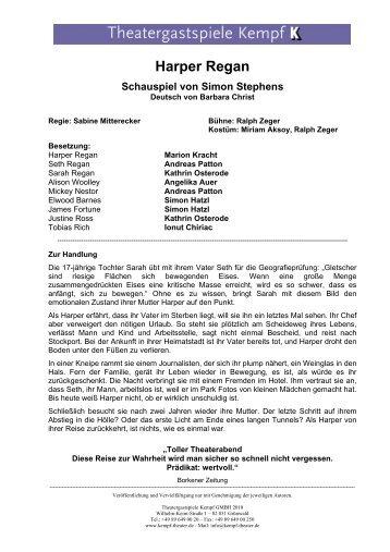 Harper Regan - Theatergastspiele Kempf GmbH